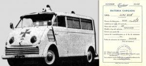 Documento gráfico de la primera ambulancia en Toledo